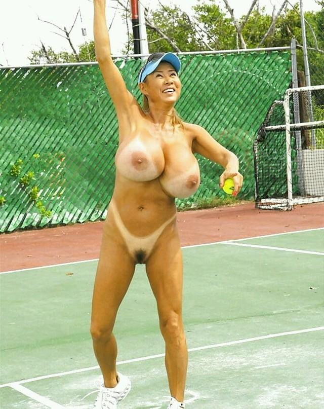Nude Babe In Cricket Stadium